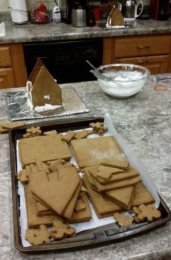 Gingerbread house cut outs